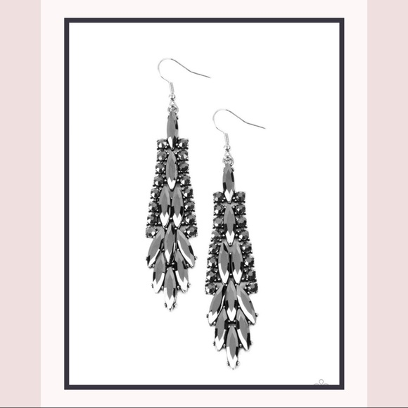 Paparazzi Crown Heiress Silver Earrings